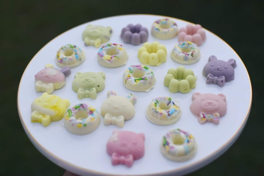 DIY pastel Easter Chocolates activity for kids