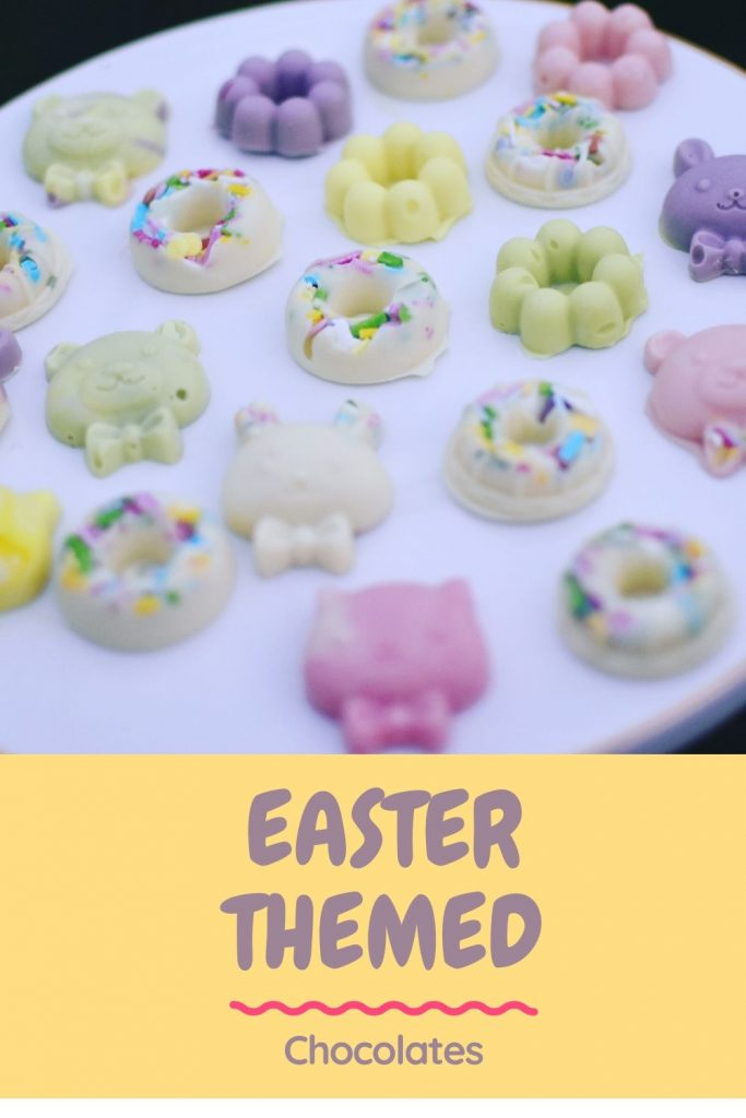 Easter themed pastel chocolates - make it yourself - fun for kids