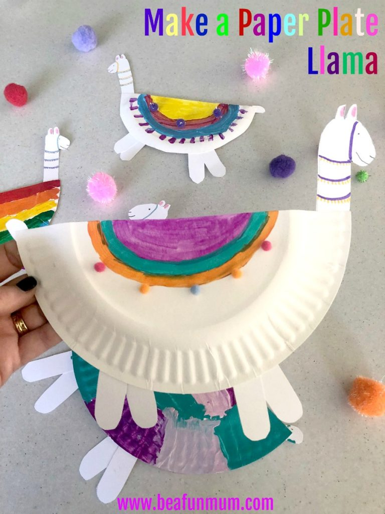 make a paper plate llama