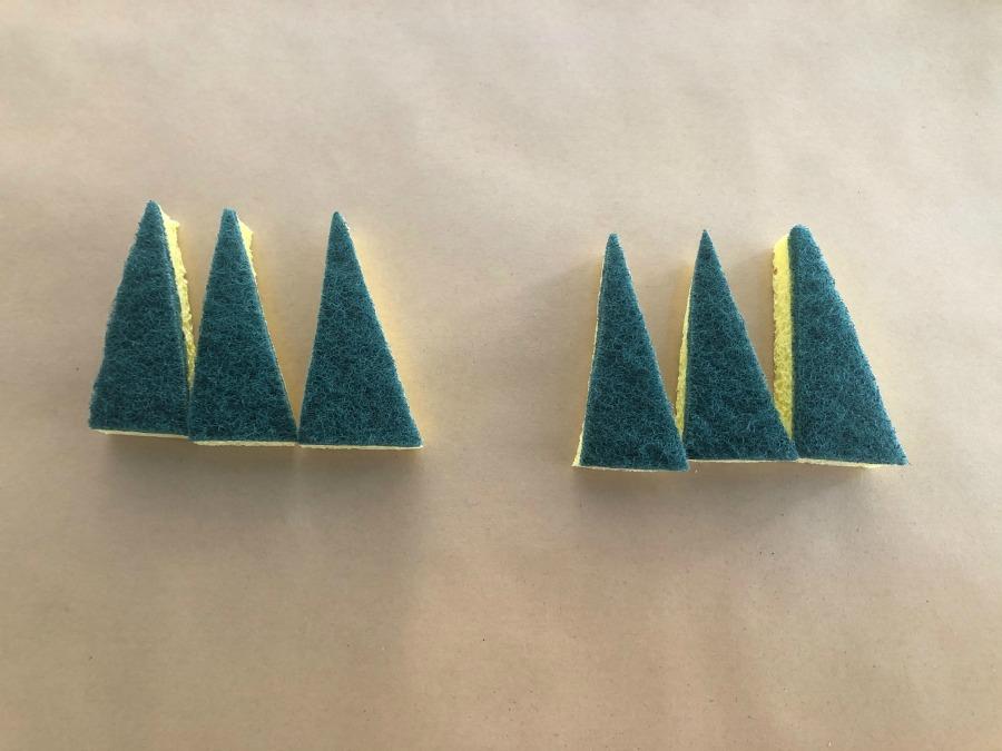 triangle sponge claws