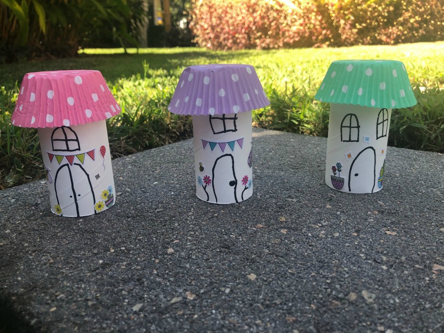 mini fairy house toilet rolls