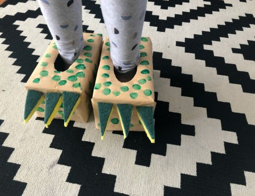 Dinosaur tissue box slippers