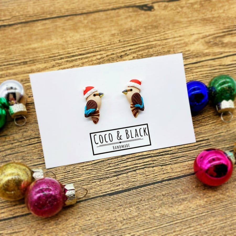 Christmas Kookaburra Earrings