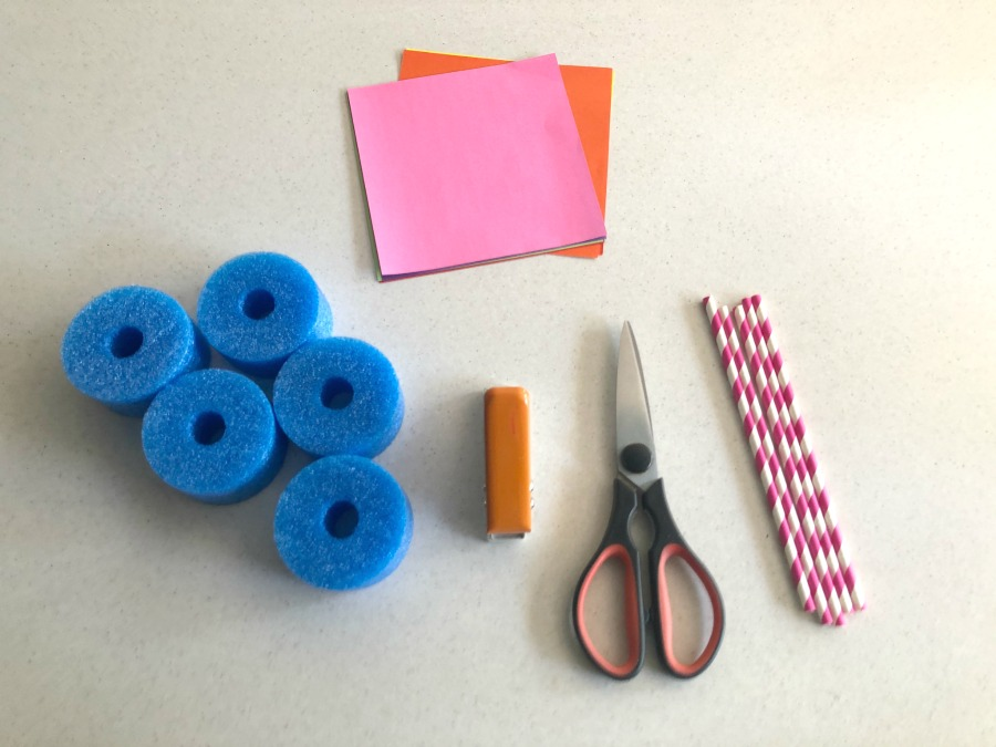 materials to make pool noodle boats