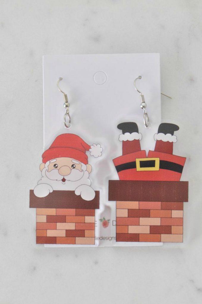 Santa Claus Chimney Earrings