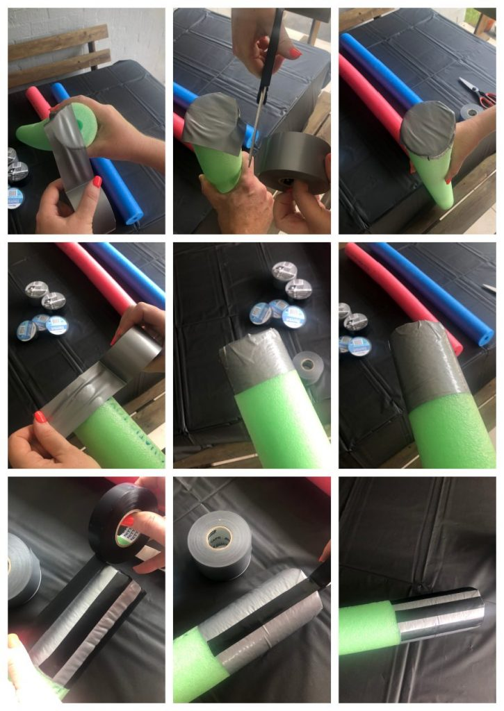 how to make star wars lightsabers from pool noodles