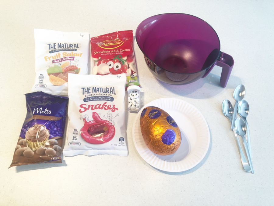 Ingredients for Chocolate Egg Faces