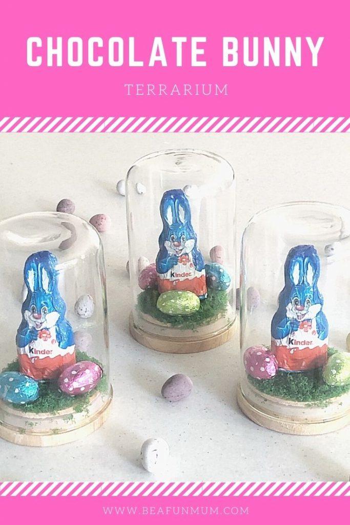 Chocolate Bunny Terrarium for Easter