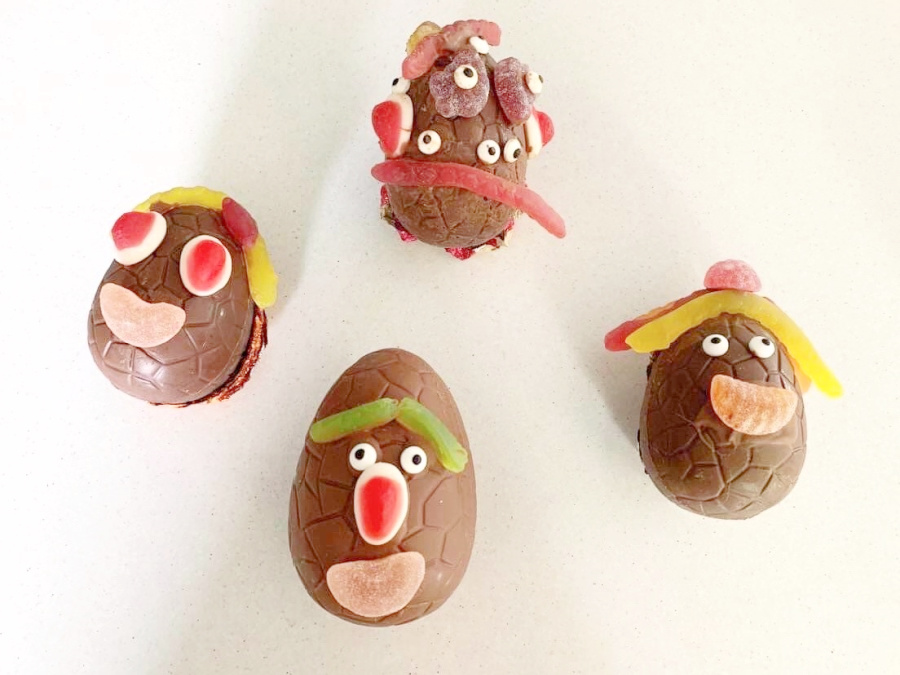 Chocolate egg faces