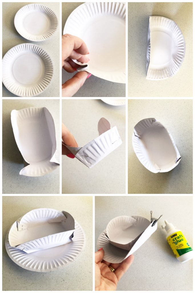 how to make paper plate slouch hat