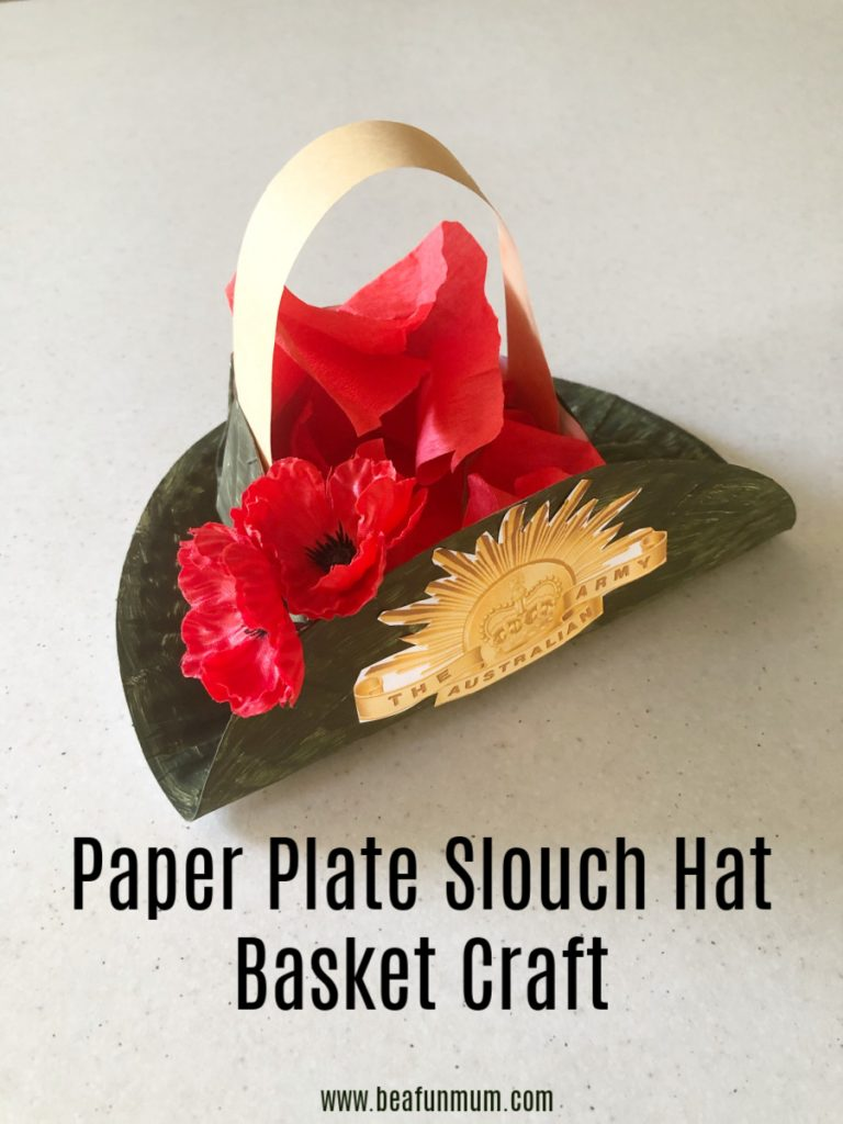 Paper Plate Slouch Hat Basket craft