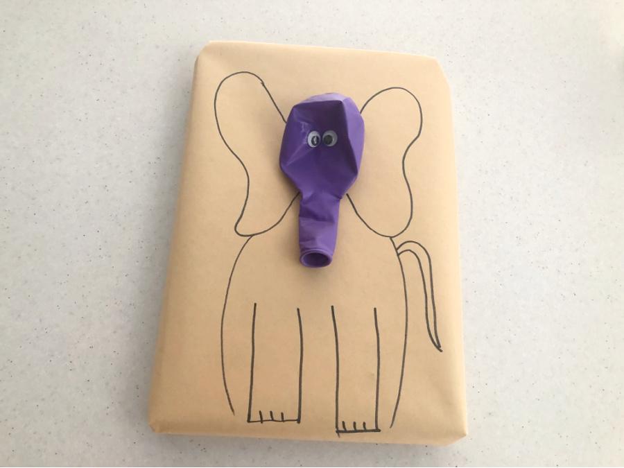 Elephant present wrapping idea