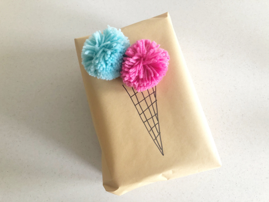 Ice Cream Delight Gift Wrapping Idea for kids