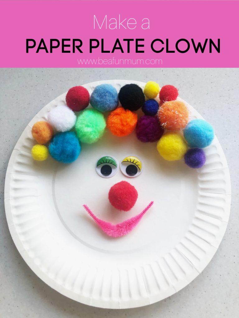 Paper Plate Clown