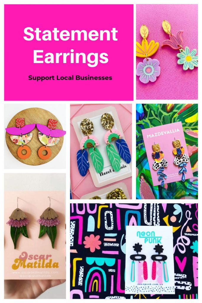 Statement earrings to support local businesses