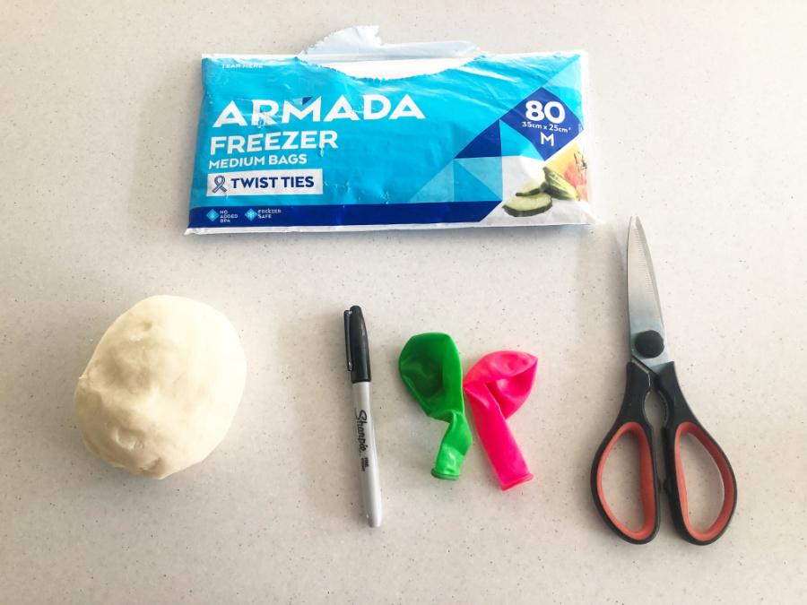 Materials to make a stress ball
