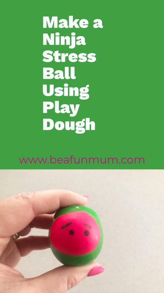 Ninja Stress ball using play dough and balloons