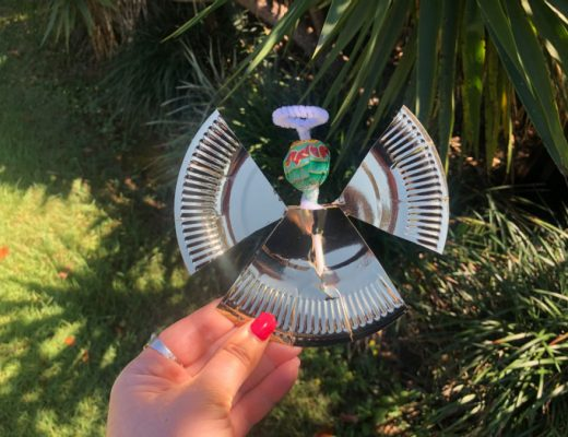Angel Paper Plate Lollipop Craft for Christmas