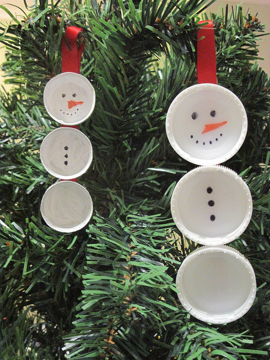 Milk bottle lid craft be a fun mum for Arts and crafts christmas decoration ideas